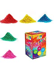 DealBindaas Rangotsav Herbal Gulal 1000 GMS 5 Shades | NonToxic | Eco Friendly | 100% Safe Holi Color Powder Pack of 20 Shades| Best Holi Gift for Kids | Eco Friendly Non-Edible Product