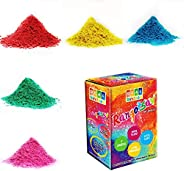 DealBindaas Eco Friendly Non-Toxic Rangotsav Herbal Gulal 1000 g 5 Shades - Pack of 20 @ 50 Grm Packet   Kids