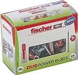 fischer DUOPOWER 6 x 30 S - Universaldübel mit Senkkopfschraube