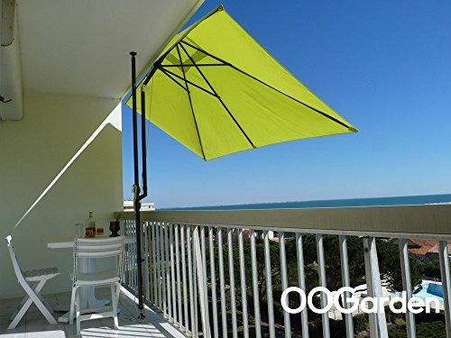 Parasol de balcon rectangulaire LEO vert anis