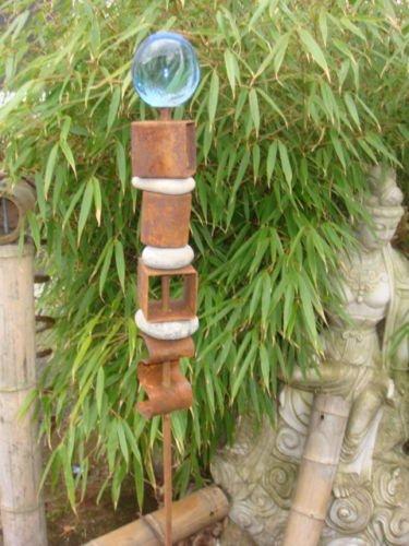 Gartenstecker Beetstecker Vogel rost 120cm