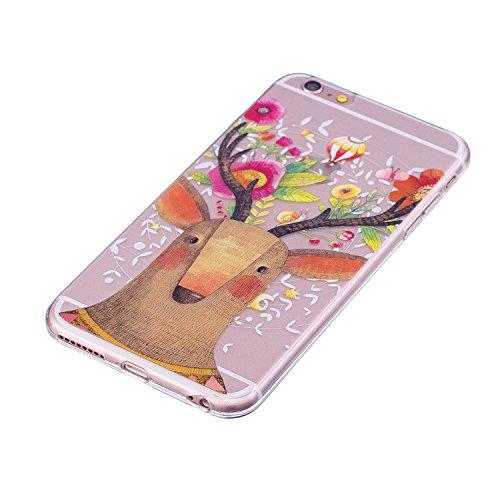iPhone 6 Plus Hülle, iPhone 6S Plus Hülle, iPhone 6 Plus / iPhone 6S Plus Crystal Case, iPhone 6 Plus / 6S Plus Silikon Hülle, iPhone 6 Plus / 6S Plus Crystal Clear TPU Transparent Schutzhülle, BONROY Hirsch