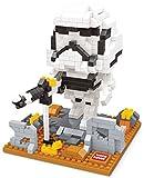 Storm Trooper figure from Star Wars. Miniblocks assembly kit. 522 miniature blocks.