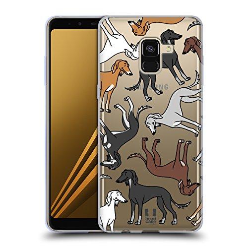 Head Case Designs Salukis Modelle Hunde Rassen 9 Soft Gel Hülle für Samsung Galaxy A8 (2018) (Hund Saluki)