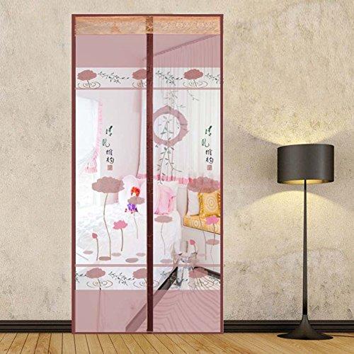 Pizzo ricamo cortina magnetica ,ventilazione silenziosa cortina magnetica superfine griglia velcro anti-zanzare silent zanzariera magnetica per porte patio balcone magic curtain -b 100x210cm(39x83inch)