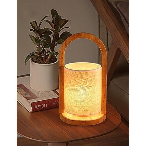 Sepfortn Cestello moderna lampada da tavolo eye-protezione del legno Luce Lampada in legno ombra Studio Camera da Letto Ufficio Lampada da tavolo di protezione dell'occhio luci