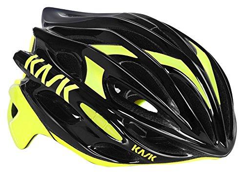 Kask Mojito 16,Casco da Bicicletta Unisex Adulto, Multicolore (Black/Yellow Fluor), 52-58 cm