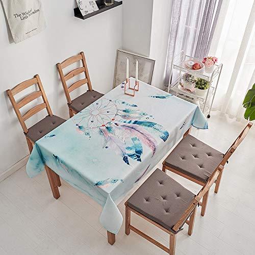 chenbyyao Toalla Impermeable Simple de algodón y Lino 120 * 160 cm (Mesa Rectangular de tamaño Normal) Atrapasueños [GL],Mantel de Simple Uso Interior y al Aire Libre