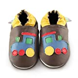 Snuggle Feet - Suaves Zapatos De Cuero Del Bebé Tren (12-18 meses)
