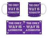 The only Way Is Axminster–Stilisierte geschoben Keramik Tasse