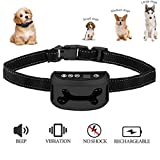 Jingfude Hunde Anti-Barking BellenHalsband mit Beep und Vibration, Wasserdicht und USB Wiederaufladbar, Einstellbar Antibellhalsband für Kleine, Mittlere und Große Hunde