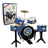 Reig 727 - Golden Drums Set Batteria, finiture metalliche, Blu