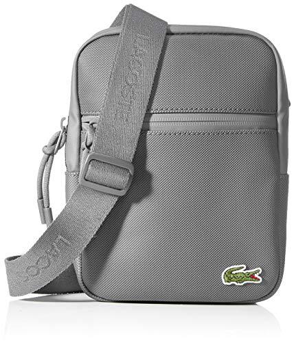 Lacoste L.12.12 Concept Sac porte épaule Homme. Gris (Agave Green),2.5x20.5x15.5 cm (W x H x L)
