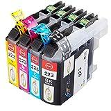 Win-Tinten Kompatibel Tintenpatronen Brother LC223 XL für Brother DCP-J4120DW DCP-J562DW MFC-J480DW J680DW J880DW J4420DW J4620DW J4625DW J5320DW J5620DW J5625DW J5720DW Drucker (1 Schwarz + 1 Cyan+ 1 Magenta+1 Gelb)