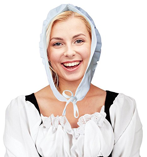 Mittelalter Magd Haube Marktfrau Weiß