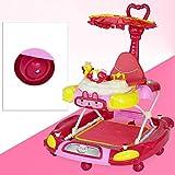 LFY Baby Walker mit Schiebegriff und Sonnenschirm, Pink