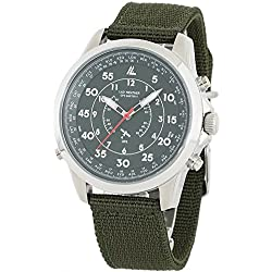 [LAD WEATHER] GPS Reloj Analógico Satellite wave reloj Nailon correa Estilo militar
