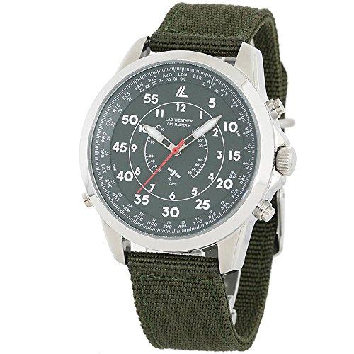 [LAD WEATHER] GPS Orologio militare modalità aereo Manuale / Automatica Impostazione semplice latitudine cinturino NATO Fuso orario
