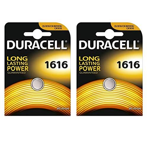 Duracell CR1616 Lithium-Knopfzelle, 3 V, Blisterverpackung, 2 Stück (Duracell Batterien 1616)
