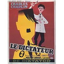 Pop Culture Graphics Póster de película el gran dictador Belgian B 11 x 17 EN - 28 cm x 44 cm Charlie Chaplin Paulette Goddard Jack Oakie Billy Gilbert Reginald Gardiner Henry Daniell
