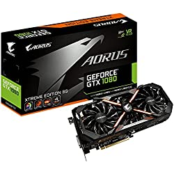 Gigabyte AORUS GeForce GTX 1080 Xtreme Edition GeForce GTX 1080 8GB GDDR5X - graphics cards (NVIDIA, GeForce GTX 1080, 7680 x 4320 pixels, 1784 MHz, 2-Way SLI, 1936 MHz)