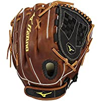 Mizuno Classic Fast Pitch Series GCF1250F2 Infield/Outfield/Pitcher Model Gloves, Black/Brown GCF1250F2-Guantes para Interior y Exterior, Color Negro y marrón, 12.5 Inches