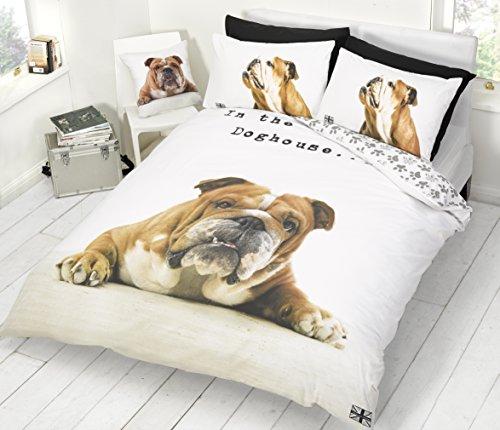 Barry Bulldogge Einzelbettdeckenbezug & Kissenbezug Set -
