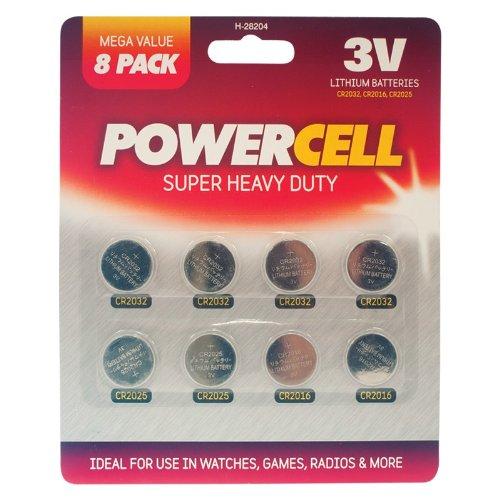 Preisvergleich Produktbild Knopfzelle Batterien–8Pack–für Fernbedienung, Uhren, Radios etc.