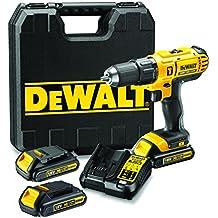 DeWalt DCD776C3-QW - Taladro percutor XR de 18 V, dimensión de 13 mm, con 3 baterías Li-Ion 1, 3 Ah y maletín