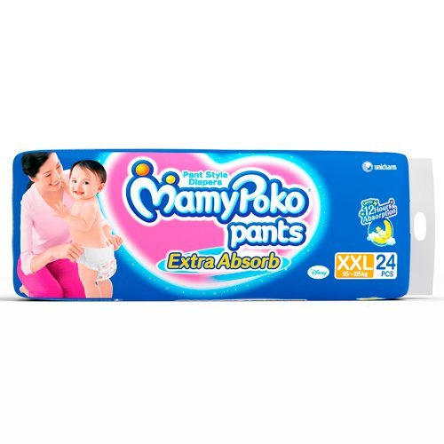 Mamy Poko Pant Extra Absorb XXL Size Diapers (24 Count)
