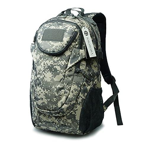IOKHEIRA 25L 600D Nylon Outdoor Sport Tactical Military Backpack Rucksack Tactical Daypack Assault Combat Waterproof (7.5 Camo)