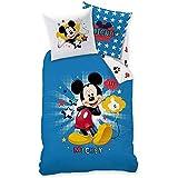 Mickey Mouse - niños Ropa de cama Juego de cama reversible Linon 80/80 x 135/200cm