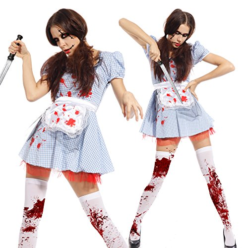 Imagen de maboobie  disfraz de criada sirvienta zombie sexy para mujer fiesta temática carnaval halloween alternativa