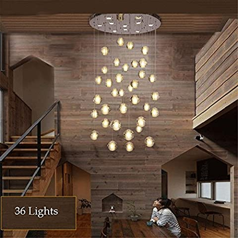 CAC 36 Luci Chiara moderno Cast Palla di vetro Meteor doccia lampadario con cromo lucido (Cancella Ottone)
