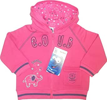 Everton Football Club Baby Girl's Microfleece Hooded Jacket with 'COYB' Pink18 to 23 months