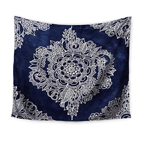 Rjjdd Creme Floral Marokkanischen Muster Wandteppich Polyester Stoff Home Hängen Dekorative Wandteppiche Livingroom Tagesdecke 150X130Cm