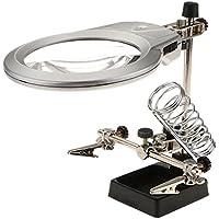 2,5X 6X Magnificación Lupa de Reparación para Relojero Joyero con LED Luz Soporte Manos