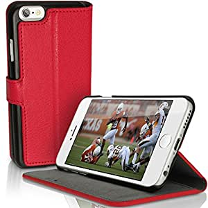 """igadgitz u31825.5""""Housse portefeuille rouge Housse pour téléphones portables–Housses pour téléphone mobile (Étui portefeuille, Apple, iPhone 6Plus, 14cm (5.5), rouge)"""