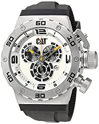 CAT WATCHES Men's 'DS49' Quartz Stainless Steel and Silicone Casual, Color:Black (Model: DS14321221)