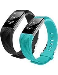 Bepack für Fitbit Charge 2 Armband,TPU Soft Silikon Armbänder Sportarmband Erstatzband Uhrenarmband für Fitbit Charge 2 Fitness Wristband