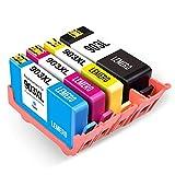LEMERO 4 Druckerpatronen Kompatibel für HP 903 903XL für HP OfficeJet Pro 6860 6868 6960 6970 6975 6978 6950 All-in-One Drucker,Schwarz Cyan Magenta Gelb