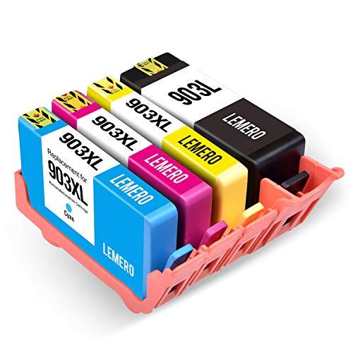 LEMERO 4 Druckerpatronen Kompatibel für HP 903 903XL für HP OfficeJet Pro 6860 6868 6960 6970 6975...