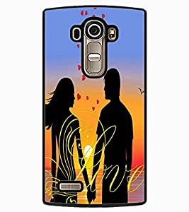 ColourCraft Loving Couple Design Back Case Cover for LG G4