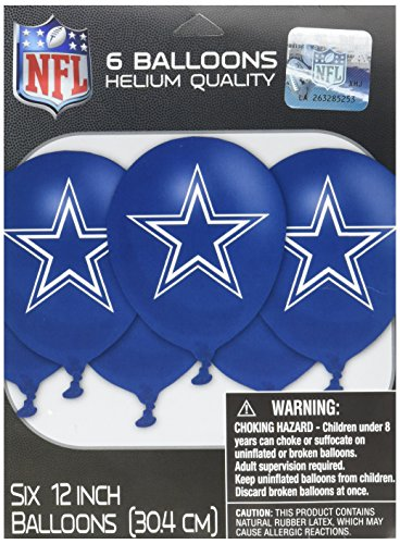 s Latex Luftballons (Dallas Cowboy Party Supplies)