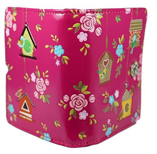 Shagwear portafoglio per giovani donne Small Purse : Diversi colori e design: Rifugio degli uccellini / Birdie Retreat
