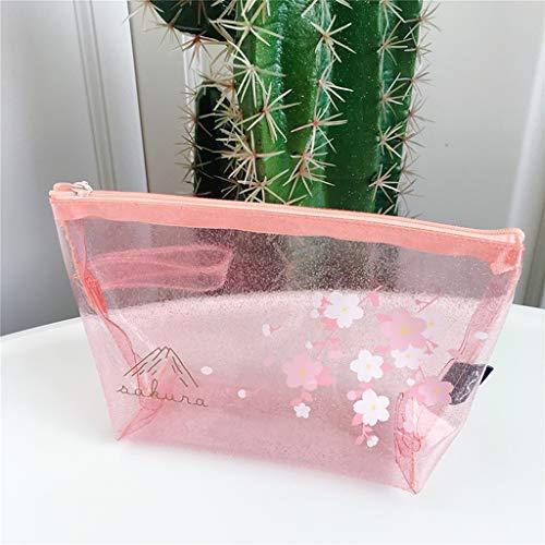 MAEKGX Kosmetiktasche Niedliche, stilvolle transparente Kosmetiktasche für Frauen Reise-Kulturbeutel Organizer für Frauen,B