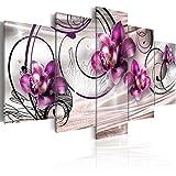 murando - Cuadro en Lienzo 200x100 cm - Flores - Impresion en calidad fotografica -...