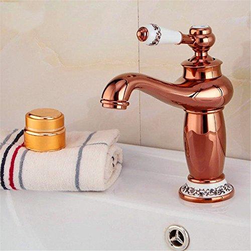 Gyps Faucet Waschtisch-Einhebelmischer Waschtischarmatur BadarmaturRose Gold, Gott ist voll von Warmen und Kalten Kupfer Wasserhahn Gold Kupfer Becken - Wasser - Küche der Pull-down-Hahn (A8-C2)