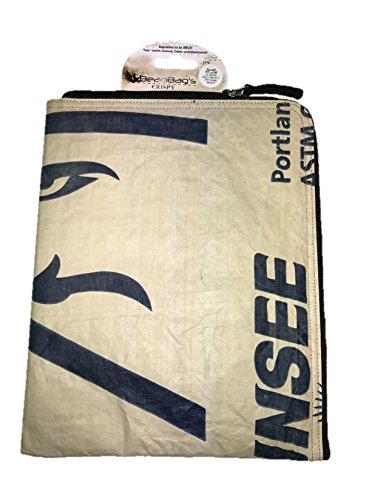 Beadbags Crispy - Nachhaltige universelle Tablethülle (10 Zoll) - individuell erstellt aus recycletem, tropischem Zementsackmaterial, Fair Trade, umweltschonend, strapazierfähig