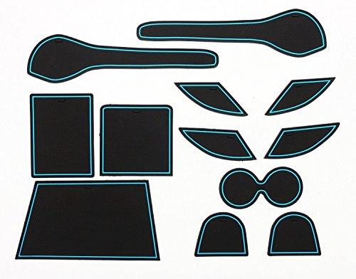 leaf-leaf-nissan-blau-speziell-interior-tur-pocket-matte-getrankehalter-slip-rutschfeste-stauraum-sc